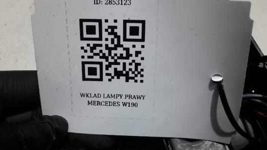 WKLAD LAMPY LEWY MERCEDES W201