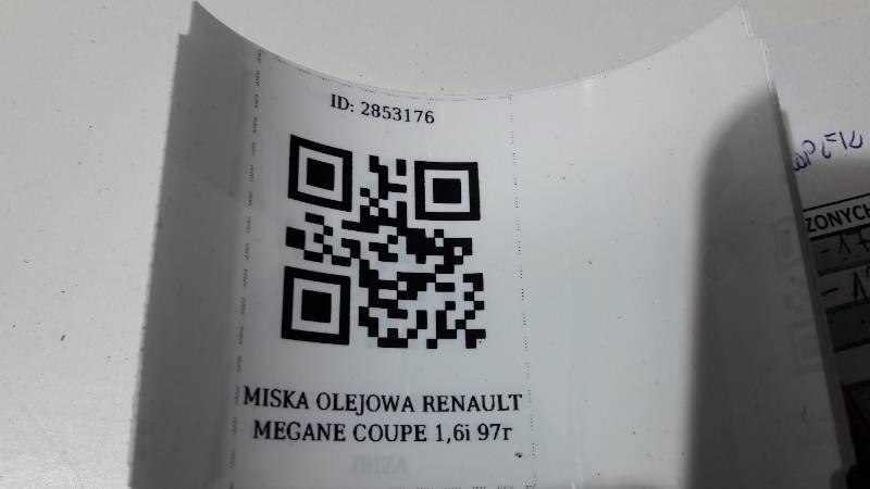 MISKA OLEJOWA RENAULT MEGANE HB 1,6i 97r