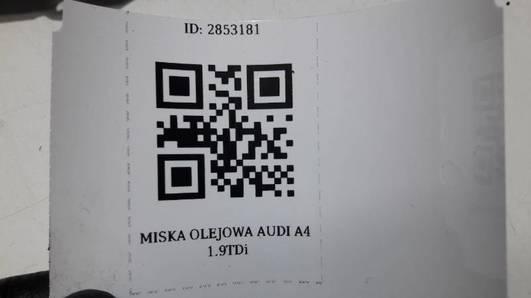MISKA OLEJOWA AUDI A4 1.9TDi