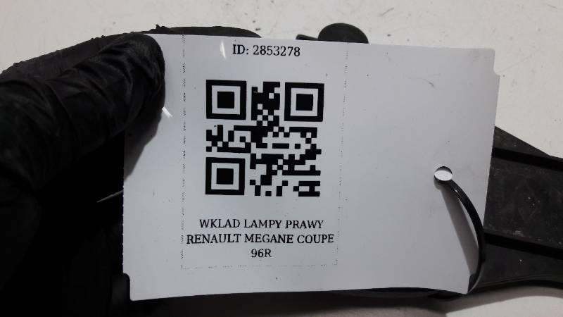 WKLAD LAMPY PRAWY  RENAULT MEGANE COUPE 96R