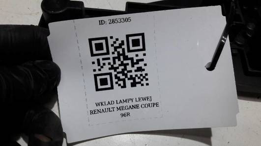 WKLAD LAMPY LEWEJ  RENAULT MEGANE COUPE 96R