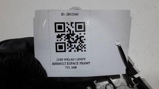 2199 WKLAD LAMPY PRAWY RENAULT ESPACE 94R