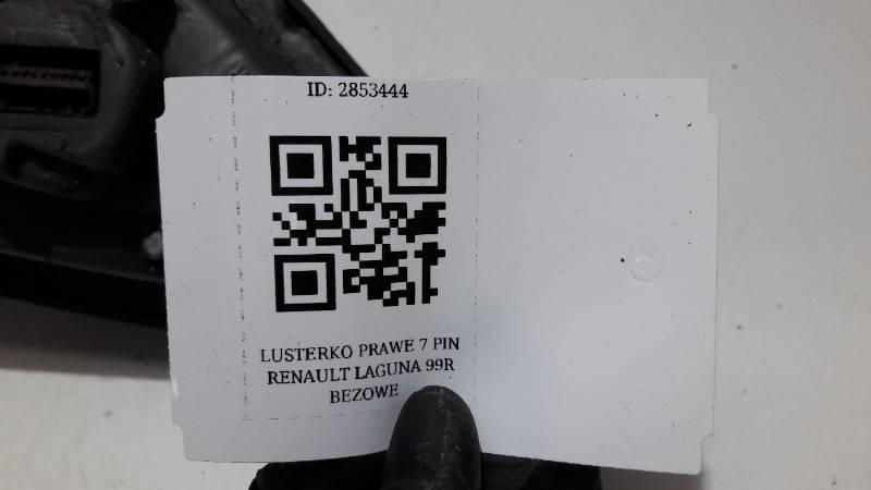 LUSTERKO PRAWE  RENAULT LAGUNA I 99R BEZOWE 7PIN