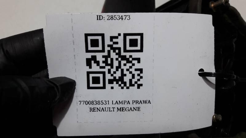 7700838531 LAMPA PRAWA RENAULT MEGANE