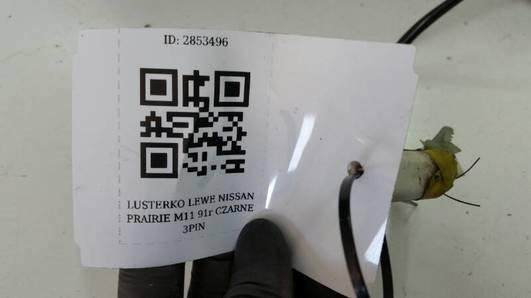 LUSTERKO LEWE NISSAN PRAIRIE M11 91r CZARNE 3PIN
