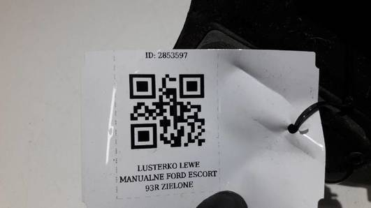 LUSTERKO LEWE MANUALNE FORD ESCORT MK5 ZIELONE