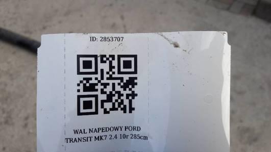 WAL NAPEDOWY FORD TRANSIT MK7 2.4 10r 285cm