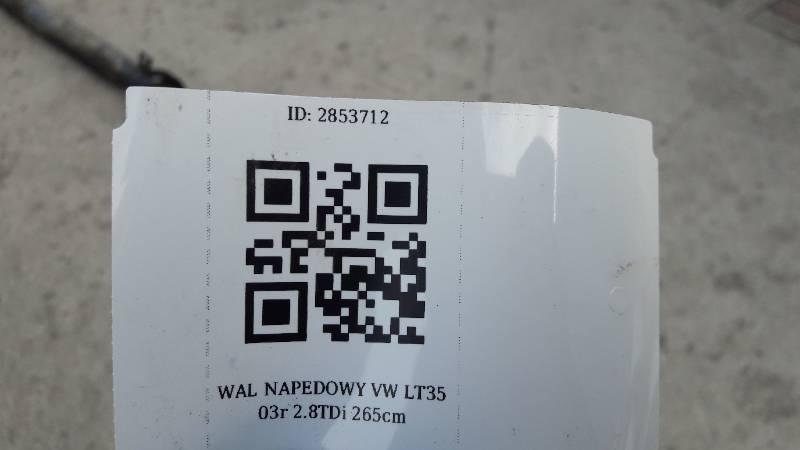 WAL NAPEDOWY VW LT35 03r 2.8TDi 265cm