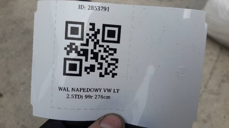 WAL NAPEDOWY VW LT 2.5TDi 99r  274cm
