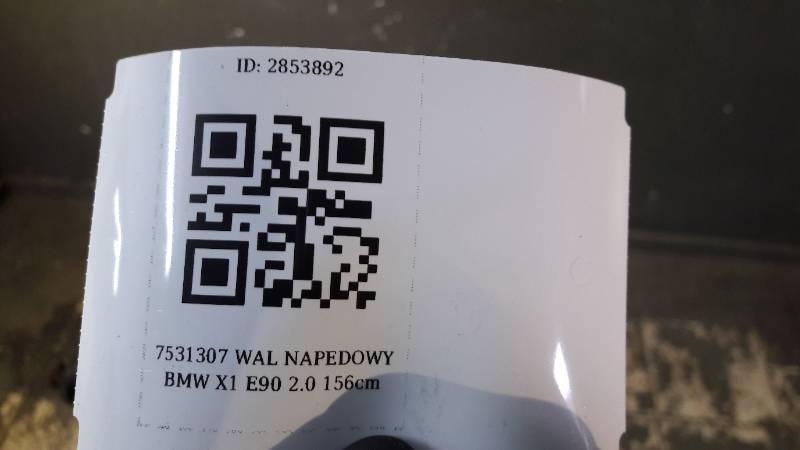 7531307 WAL NAPEDOWY BMW X1 E90 2.0 156cm