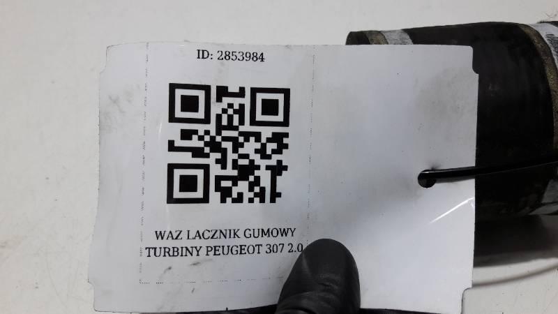 WAZ LACZNIK GUMOWY TURBINY PEUGEOT 307 2.0