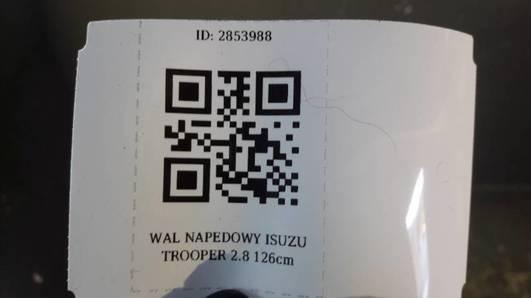 WAL NAPEDOWY ISUZU TROOPER 2.8 126cm