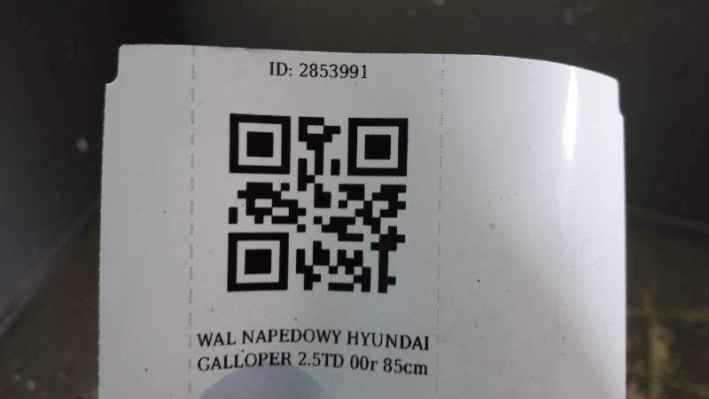 WAL NAPEDOWY PRZOD HYUNDAI GALLOPER 2.5TD 00r 85cm