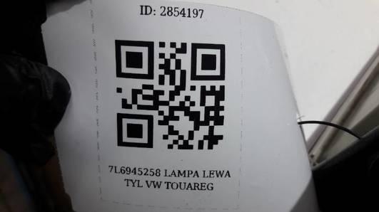 7L6945096K LAMPA PRAWA TYL VW TOUAREG
