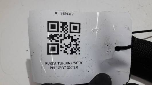 RURKA TURBINY WODY PEUGEOT 307 2.0