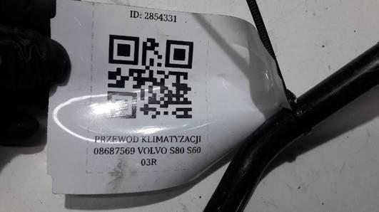 08687569 PRZEWOD KLIMATYZACJI  VOLVO S80 S60 03R