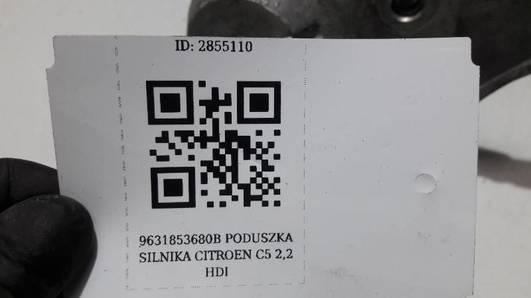 9631853680B PODUSZKA SILNIKA CITROEN C5 2,2 HDI