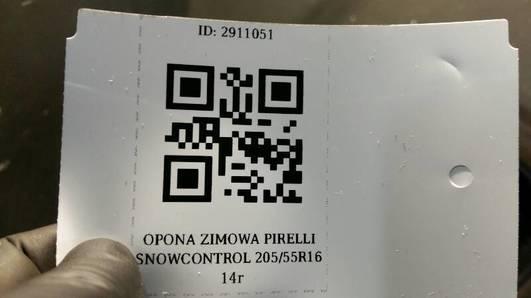 OPONA ZIMOWA PIRELLI SNOWCONTROL 205/55R16 14r