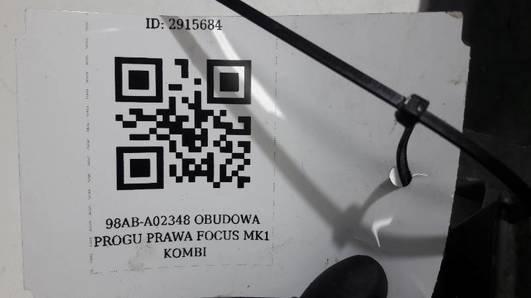98AB-A02348 OBUDOWA PROGU PRAWA FOCUS MK1 KOMBI