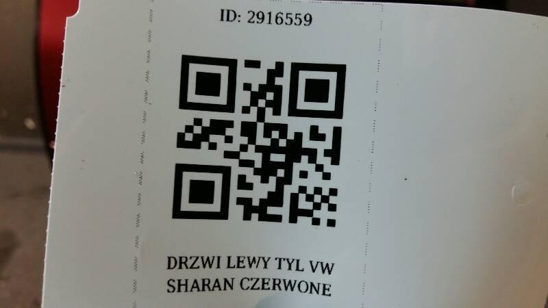 DRZWI LEWY TYL VW SHARAN CZERWONE
