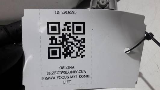 OSLONA PRZECIWSLONECZNA PRAWA FOCUS MK1 KOMBI LIFT