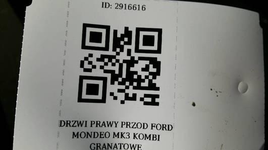 DRZWI PRAWY PRZOD FORD MONDEO MK3 KOMBI GRANATOWE