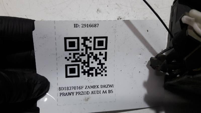 8D1837016F ZAMEK DRZWI PRAWY PRZOD AUDI A4 B5