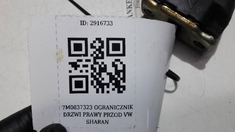 7M0837323 OGRANICZNIK DRZWI PRAWY PRZOD VW SHARAN