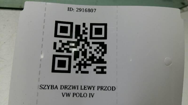 SZYBA DRZWI LEWY PRZOD VW POLO III 6N 5D