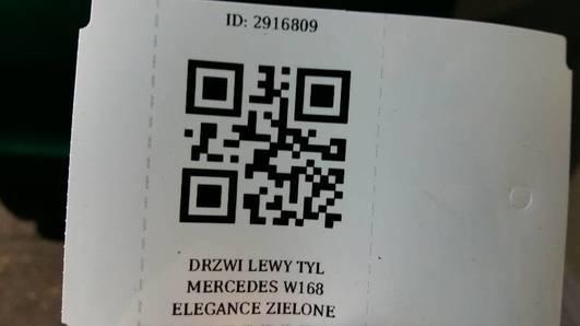 DRZWI LEWY TYL MERCEDES W168 ELEGANCE ZIELONE