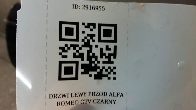 DRZWI LEWY PRZOD ALFA ROMEO GTV CZARNY