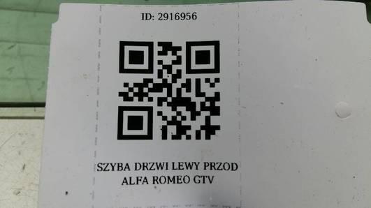 SZYBA DRZWI LEWY PRZOD ALFA ROMEO GTV