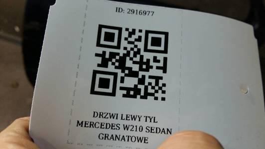 DRZWI LEWY TYL MERCEDES W210 SEDAN GRANATOWE