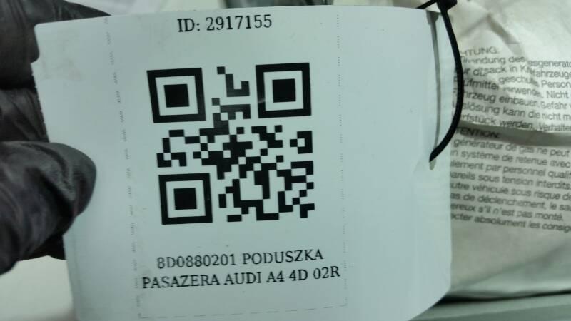 8D0880201 PODUSZKA PASAZERA AUDI A4 4D 02R