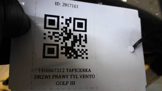 1H4867212 TAPICERKA DRZWI PRAWY TYL VENTO GOLF III