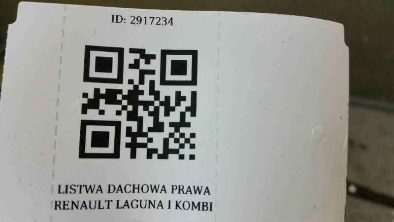 LISTWA DACHOWA LEWA RENAULT LAGUNA I KOMBI