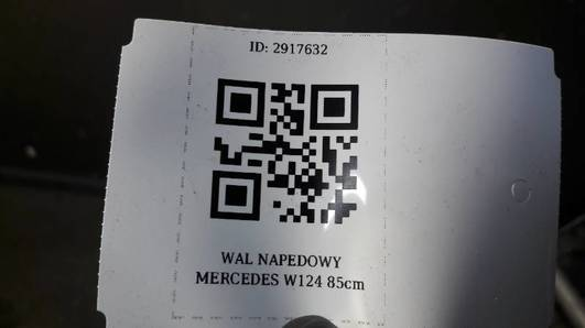 WAL NAPEDOWY MERCEDES W124 85cm