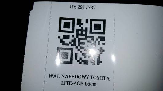 WAL NAPEDOWY TOYOTA LITE-ACE 66cm