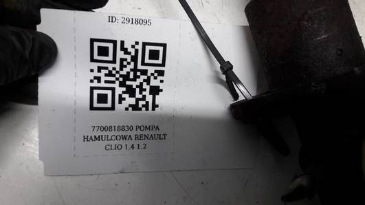 7700818830 POMPA HAMULCOWA RENAULT CLIO 1.4 1.2