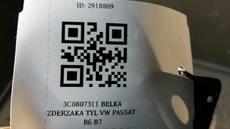 3C0807311 BELKA ZDERZAKA TYL VW PASSAT B6 B7