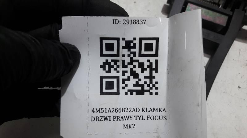 4M51A266B22AD KLAMKA DRZWI PRAWY TYL FOCUS MK2