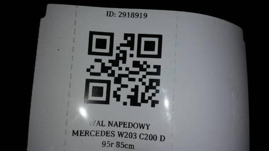 WAL NAPEDOWY MERCEDES W203 C200 D 95r 85cm