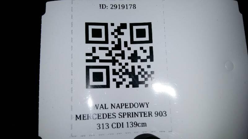 WAL NAPEDOWY MERCEDES SPRINTER 903 313 CDI 139cm