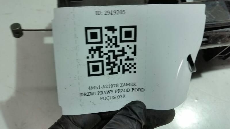 4M51-A21978 ZAMEK DRZWI PRAWY PRZOD FORD FOCUS 07R