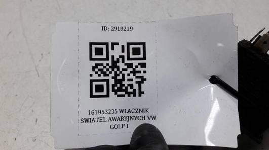 161953235 WLACZNIK SWIATEL AWARYJNYCH VW GOLF I