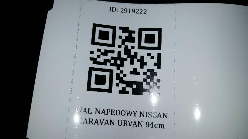 WAL NAPEDOWY NISSAN CARAVAN URVAN 94cm