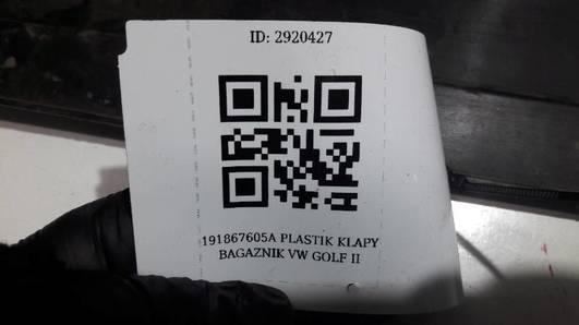 191867605A PLASTIK KLAPY BAGAZNIK VW GOLF II