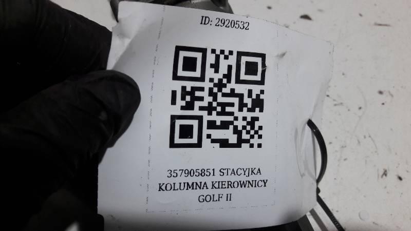 357905851 STACYJKA KOLUMNA KIEROWNICY GOLF II