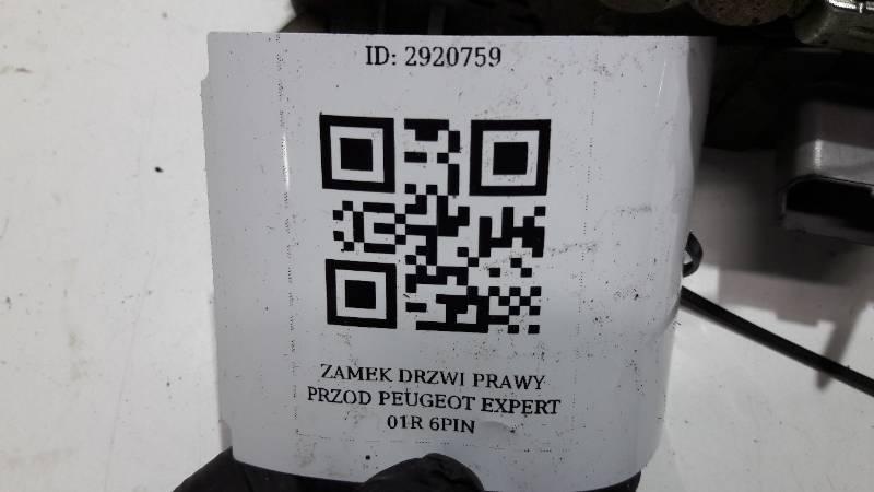 ZAMEK DRZWI PRAWY PRZOD PEUGEOT EXPERT 01R 6PIN