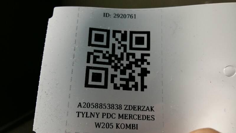 A2058853838 ZDERZAK TYLNY PDC MERCEDES W205 KOMBI